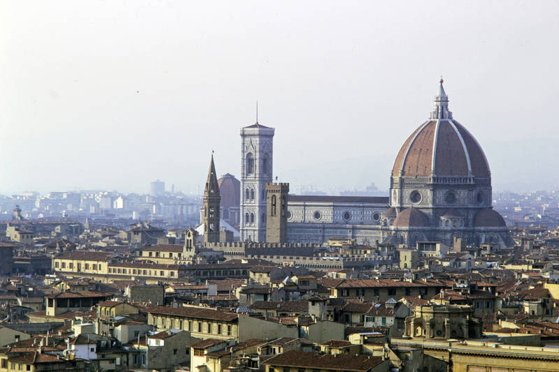 Dach, florenz, Kathedrale Santa Maria del Fiore, kirche, ziegel