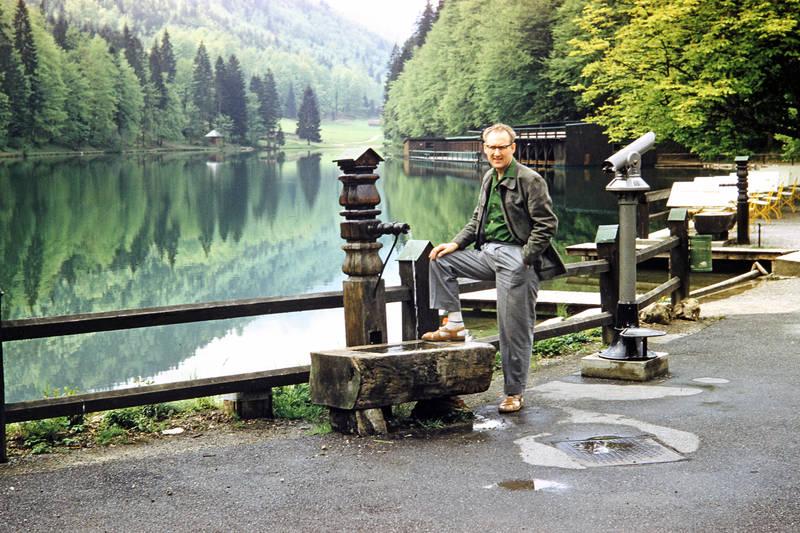 Brunnen, Fernglas, mode, Rießersee, Stuhl, tisch, Ufer