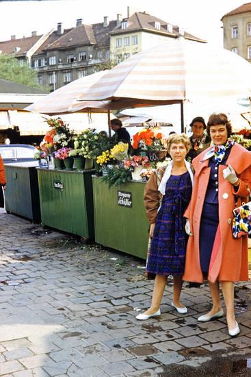 Blume, mode, münchen, Sonnenschirm, Tasche, viktualienmarkt