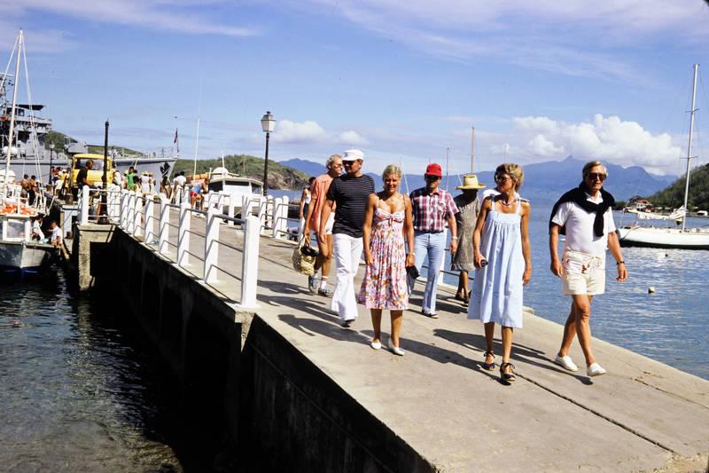 Guadelupe, hut, mode, Pointe-à-Pitre, schiff, Segelboot, sonnenbrille, Steeg