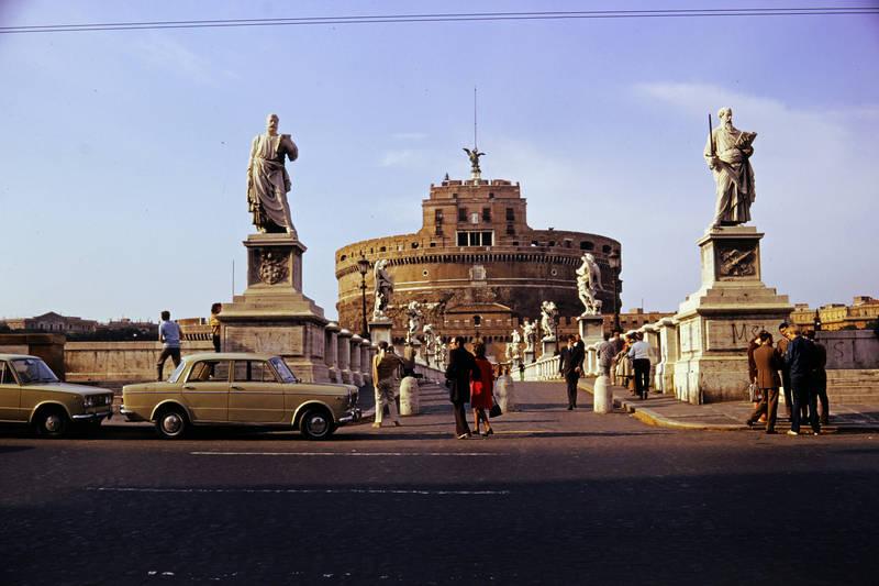 Aeliusbrücke, auto, Castel Sant'Angelo, Engelsburg, KFZ, mode, PKW, Ponte Sant'Angelo, Rom