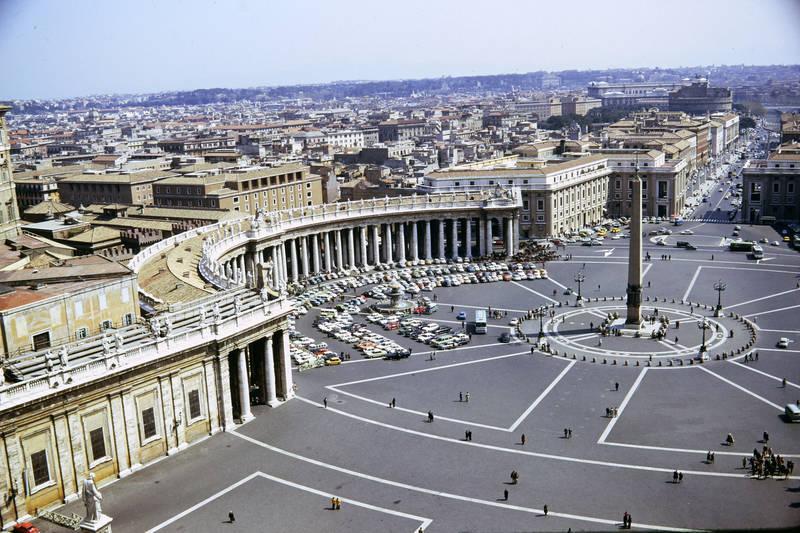 auto, Dach, KFZ, Obelisco Vaticano, Petersdom, Petersplatz, PKW, Rom, vatikanstadt