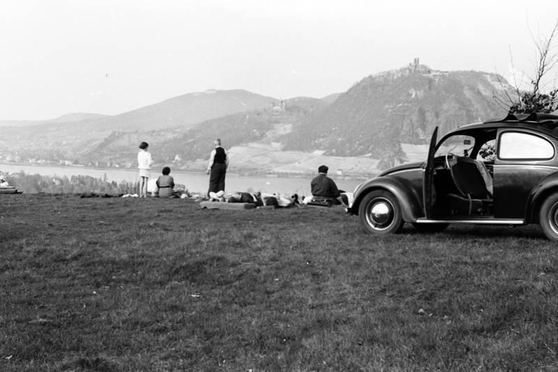 Mit Auto am Rhein
