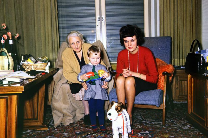 Kindheit, Lastwagen, mode, Perlenkette, Spielzeug, Spielzeughund, Weihnachten, wohnzimmer