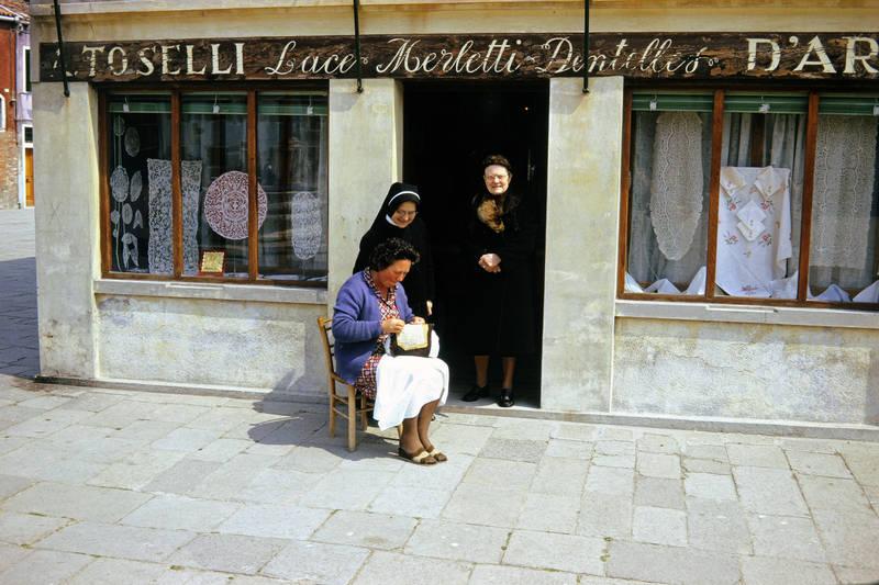 geschäft, Spitze, Spitzenstickerei, Toselli, Venedig
