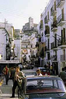 Gasse in Ibiza