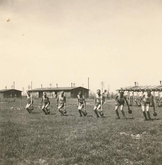 freizeit, Nationalsozialismus, Reichsarbeitsdienst, sport, Tellig, trikot