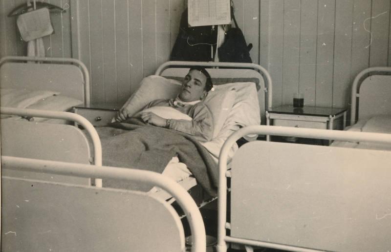 Heilung, hilfe, Krankenbett, krankenhaus, Lazarett, Reichsarbeiterdienst, Verwundeter