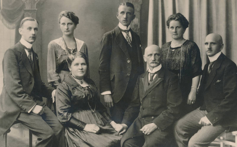 Familienbild, Fotostudio