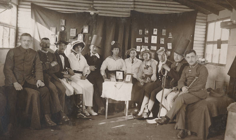 Armee, Beachley-Chepstow, Erster Weltkrieg, kriegsgefangenschaft, Soldaten, Theaterspieler, UK