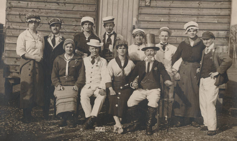 Armee, Beachley-Chepstow, carneval, Erster Weltkrieg, karneval, kriegsgefangenschaft, Soldaten, UK
