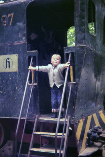 Eisenbahn, Kindheit, Lok, lokomotive, Treppe, zug