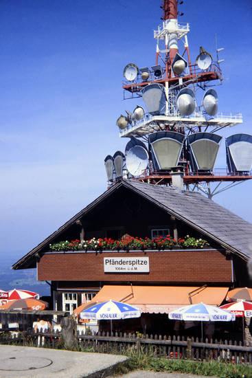 Alpen, Berg, Funkturm, Österreich, Pfänderspitze, Sonnenschirm