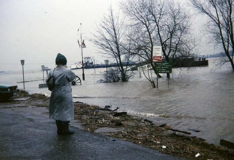 Anlegestelle, flussufer, Hochwasser, Parkplatz, schiff, stadt xanten, xanten