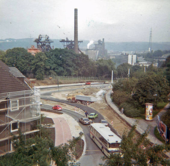 August-Bebel-Straße, auto, Baustelle, bus, Hattingen, KFZ, neubau, PKW, Umbau