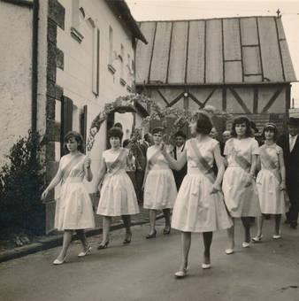 Sechs Damen mit Schärpen