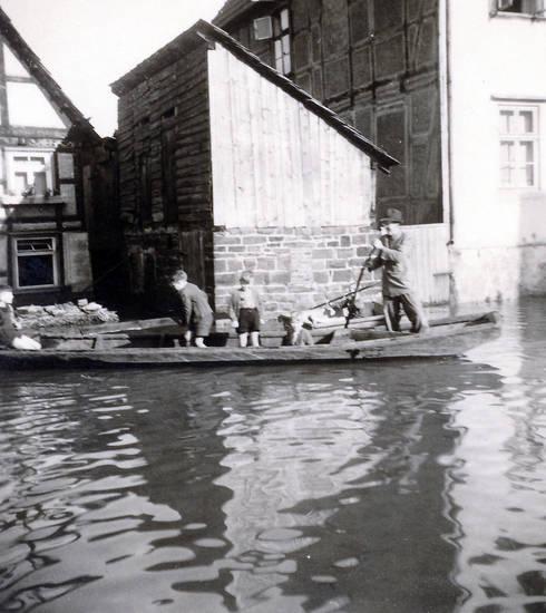 haus, Hochwasser, Kindheit, ruder, Ruderboot, Rudern