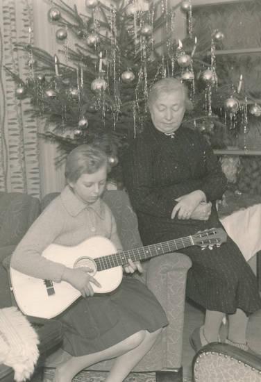 christbaum, couch, Gitarre, sofa, Tannenbaum, Weihnachten, Weihnachtsbaum, wohnzimmer