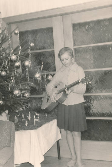 christbaum, Gitarre, instrument, Kindheit, musikinstrument, Tannenbaum, Weihnachten, Weihnachtsbaum, Weihnachtskugel