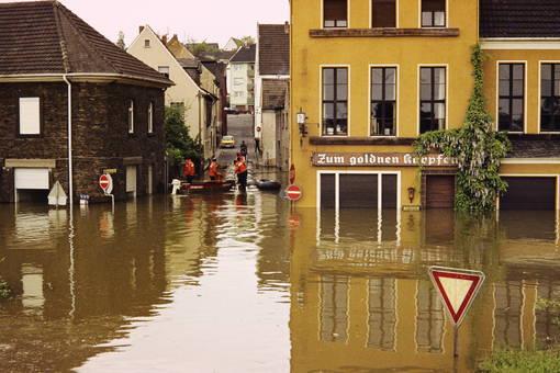 Hochwasser in Irlich