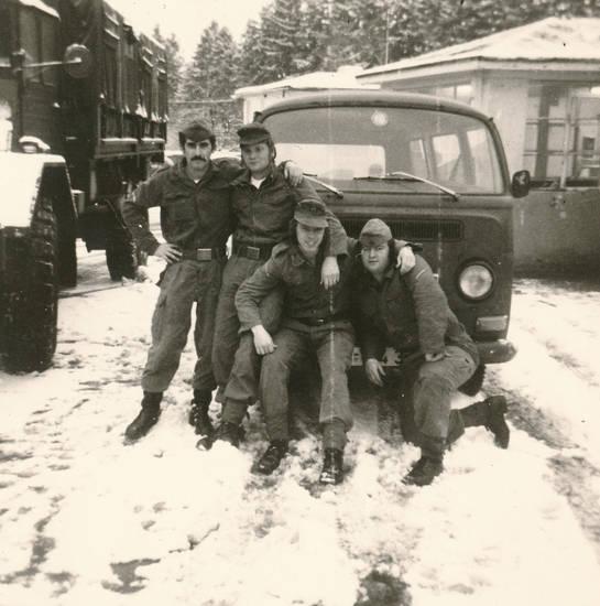 Bundeswehr, bus, KFZ, LKW, schnee, Uniform, winter