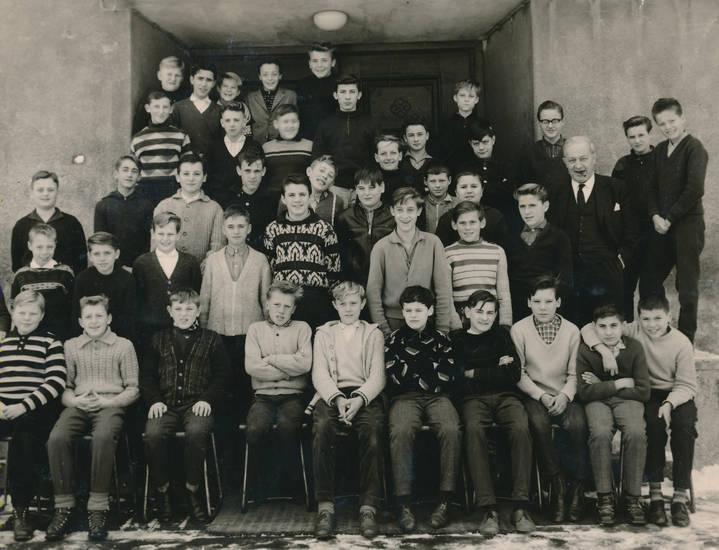 Jungenklasse, Kindheit, lehrer, mode, Schüler, Schulklasse