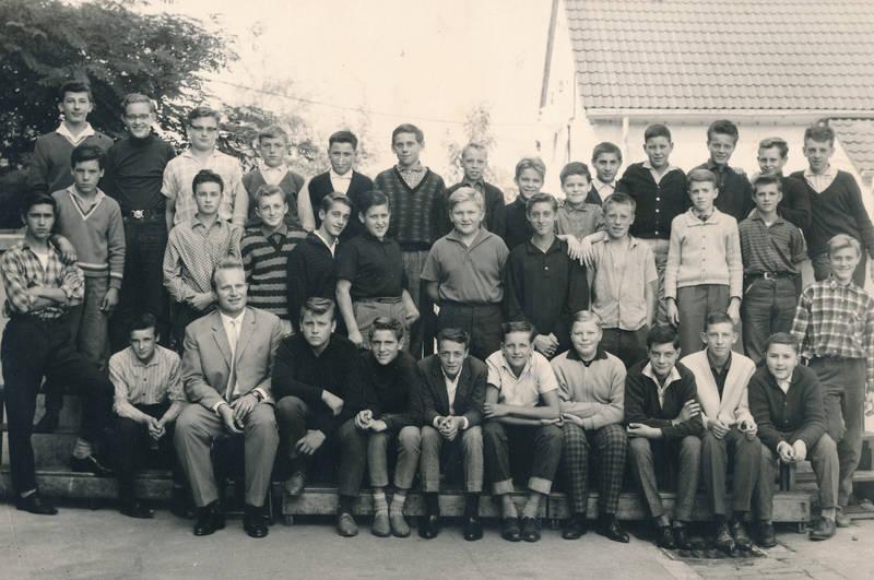 Jungenklasse, Kindheit, Klassenfoto, lehrer, schule, Schüler