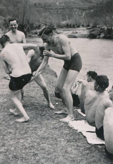 2.Weltkrieg, Albern, ärgern, bademode, lachen, soldat, Sommer, Wehrmacht