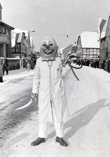 Dolch, karneval, Kittel, maske, schlauch, schnee, straße