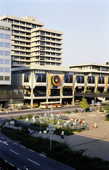 bus, gebäude, geschäft, Koblenz, Platz, straße, zentralplatz