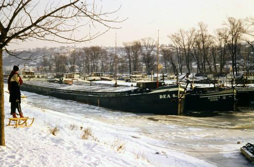 Schiffe im Schnee