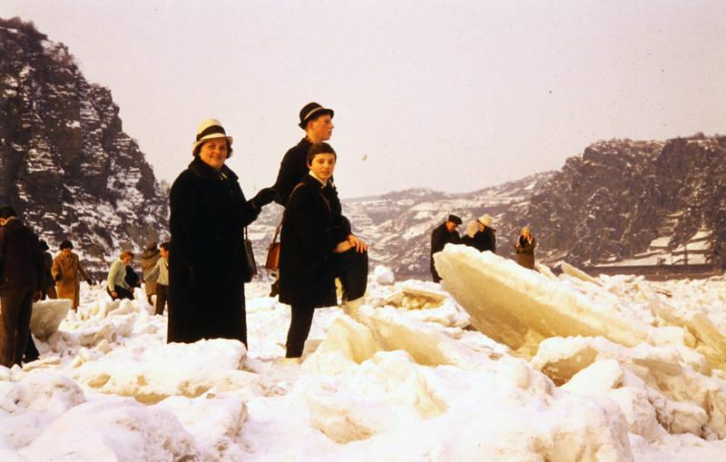 ausflug, Eis, eisbrocken, eisdecke, Eisscholle, Loreley, Rhein, schnee, winter