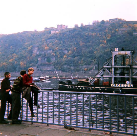 Festung Ehrenbreitstein, fluss, Koblenz, Krokodil, Rhein, schiff, taucherschacht
