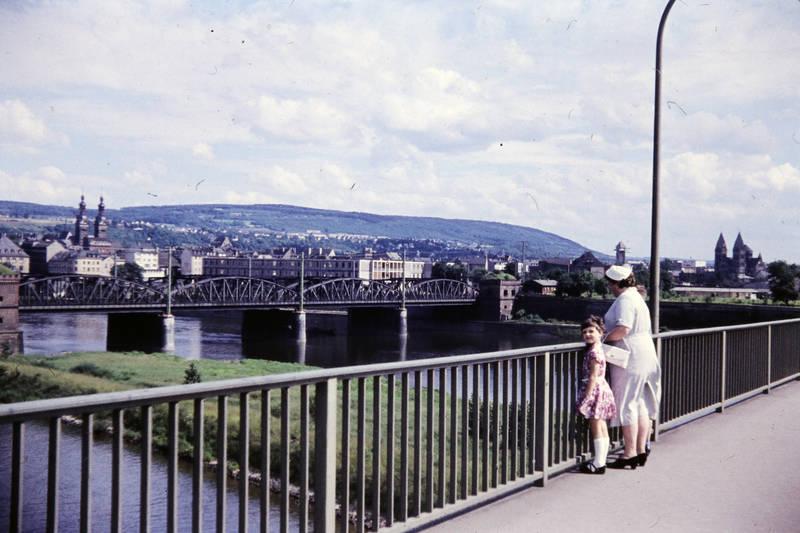 ausflug, brücke, Eisenbahnbrücke, Europabrücke, kirche, Kirchturm, Mosel, Mutter, Standort Neue Moselbrücke (Europabrücke), Standort Staustufe Koblemz