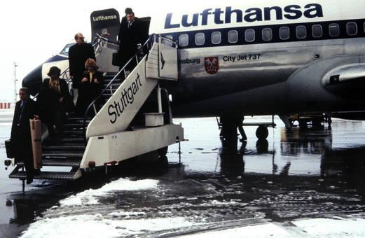 Ausstieg aus dem Flugzeug
