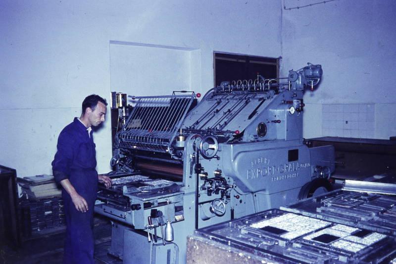 albert frankenthal, Druckerei, export-grala, Maschine, thermobinder