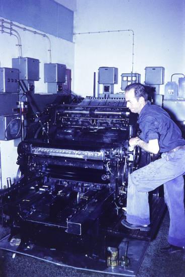 Druckerei, Maschine, schmierfett, schmieröl