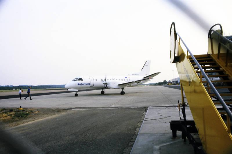 Flughafen, Flugplatz, flugzeug, Netherlines, Treppe