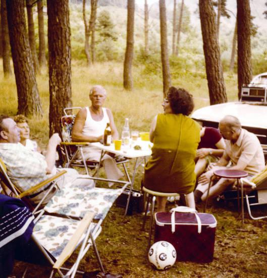 auto, camping, campingstuhl, Gartenstuhl, KFZ, kühltasche, picknick, PKW, Radio