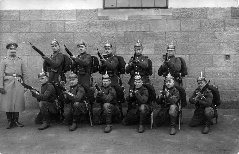 detsches heer, Gewehr, kaiserreich, mantel, Militär, Pickelhaube, soldat, Uniform