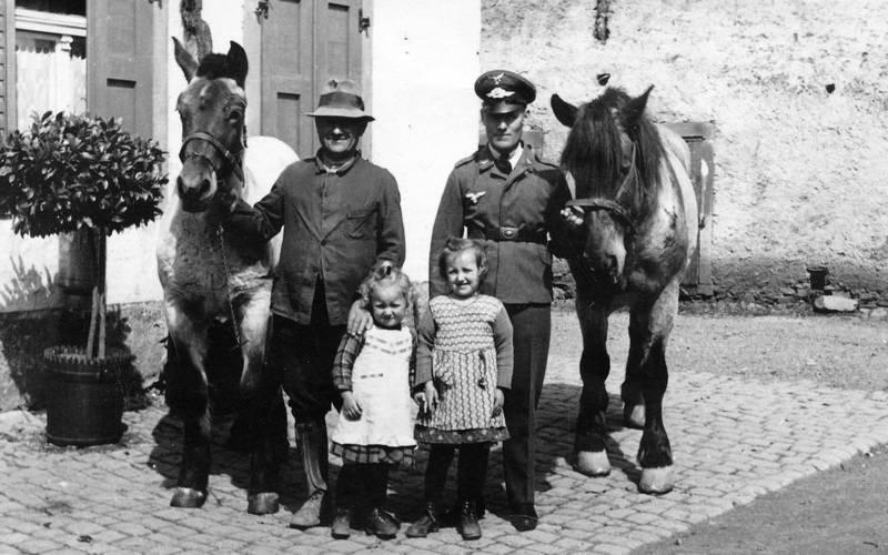 gruppenfoto, hut, Kindheit, Pferd, Uniform