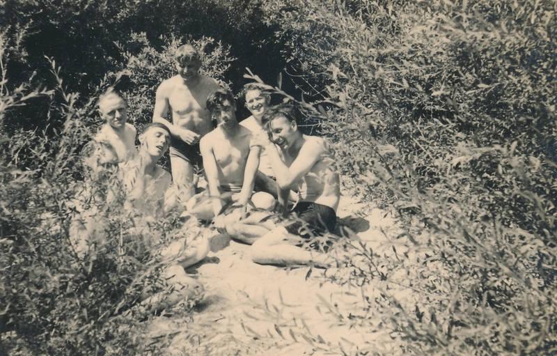 2.Weltkrieg, badehose, La Charité-sur-Loire, soldat, Sommer, Wehrmacht