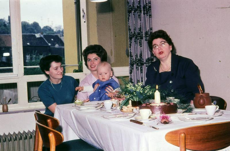 baby, Kindheit, tee, teekanne, tisch