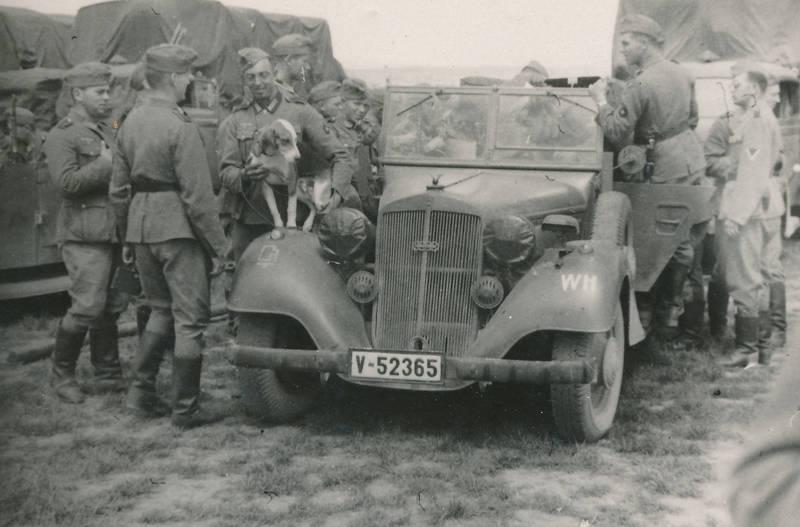 2.Weltkrieg, auto, belgrad, Horch830R, hund, KFZ, KFZ15, Kübelwagen, PKW, soldat, Wehrmacht