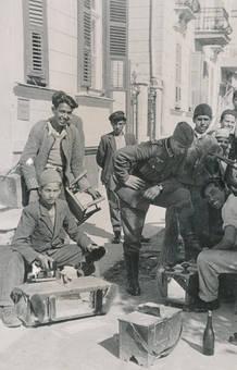 Schuhputzer in Skopje