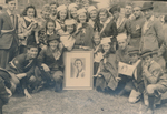 Gruppe um Porträt