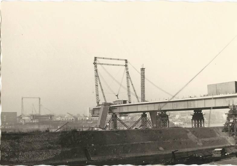 Baustelle, Brückenschluss, gerüst, köln, Severinsbrücke