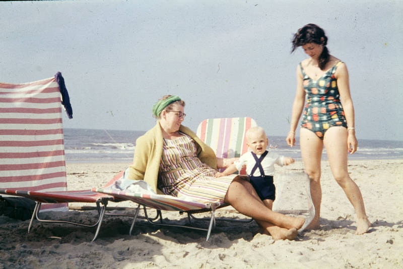 baby, badeanzug, badeurlaub, Kindheit, Liegestuhl, sand, urlaub