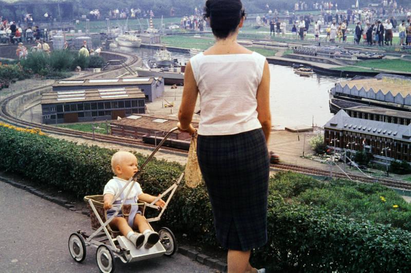 baby, kinderwagen, Kindheit, Madurodam, Miniaturpark, straße, weg