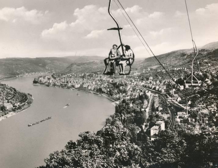 Boppard, fahrt, fluss, lift, Rhein, Sessellift